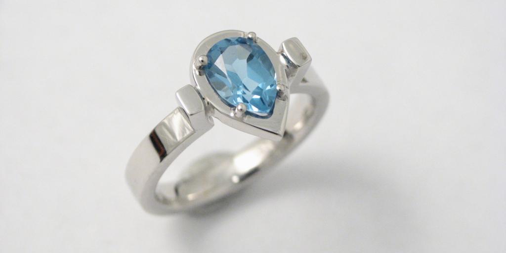 fehérarany jegygyűrű 008.