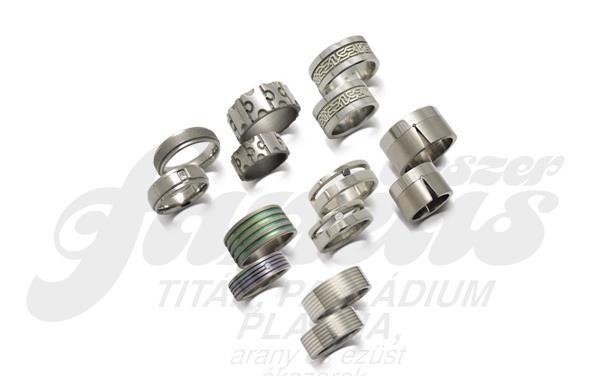 Titán, platina, palládium, arany ékszer, gyűrű, karikagyűrű, jegygyűrű