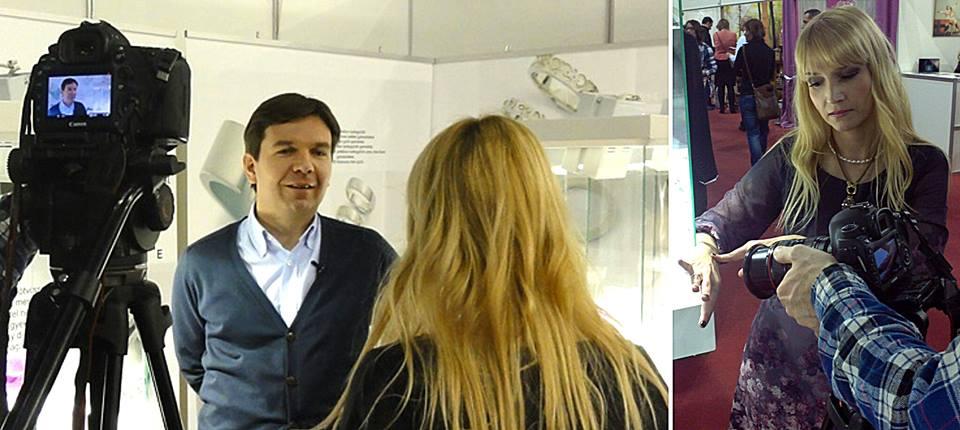 TV felvétel készítése a Trendközelben című műsorba 2014. - Farkas Ékszer - Farkas Márk
