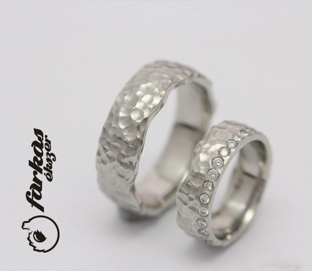 Platina karikagyűrű gyémántokkal 050.