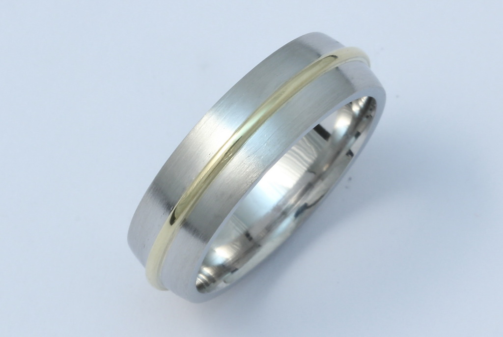 Platina-arany jegygyűrű 035.