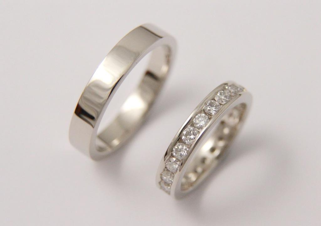 Platina karikagyűrű gyémántokkal 027.