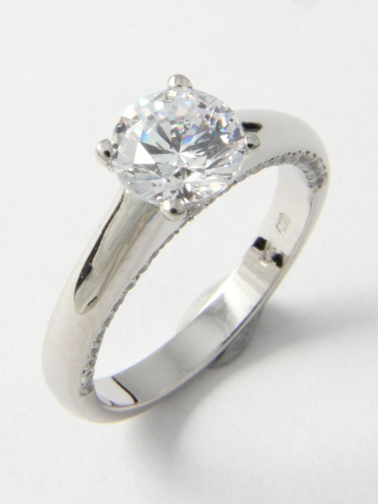 Fehérarany gyűrű gyémántokkal 046.