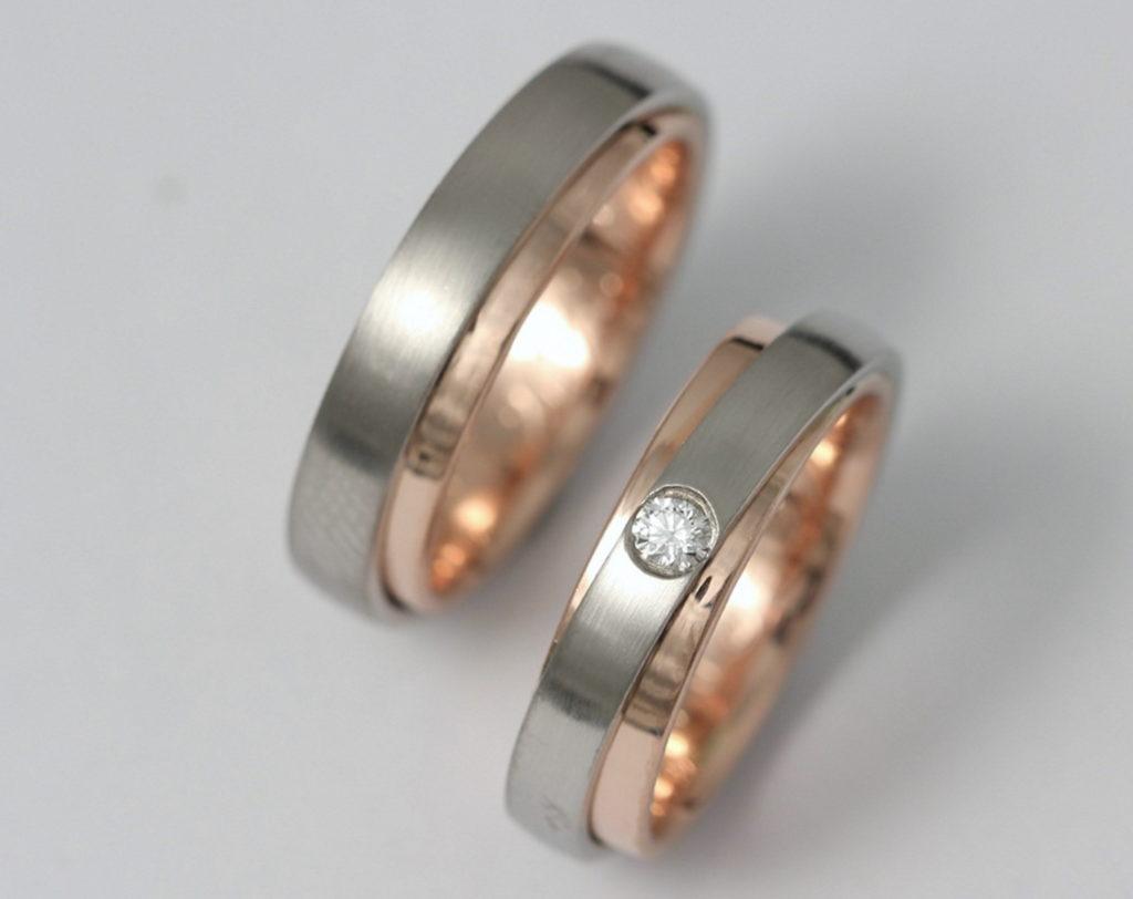 Arany karikagyűrűk gyémánttal 020.