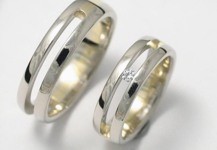 Arany karikagyűrű gyémánttal 028.