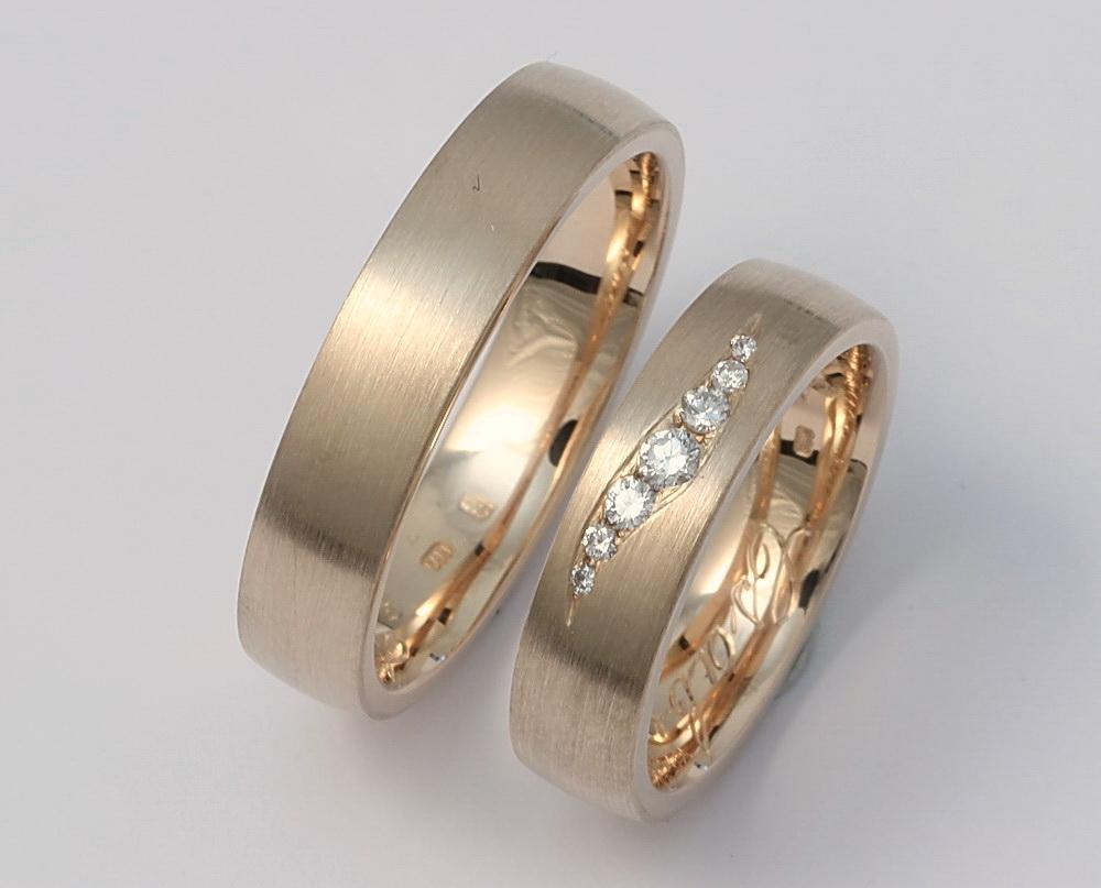 Arany karikagyűrű gyémántokkal 054.