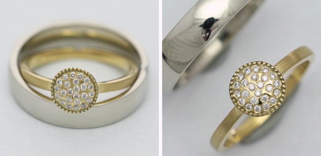 Arany karikagyűrű gyémántokkal 085.