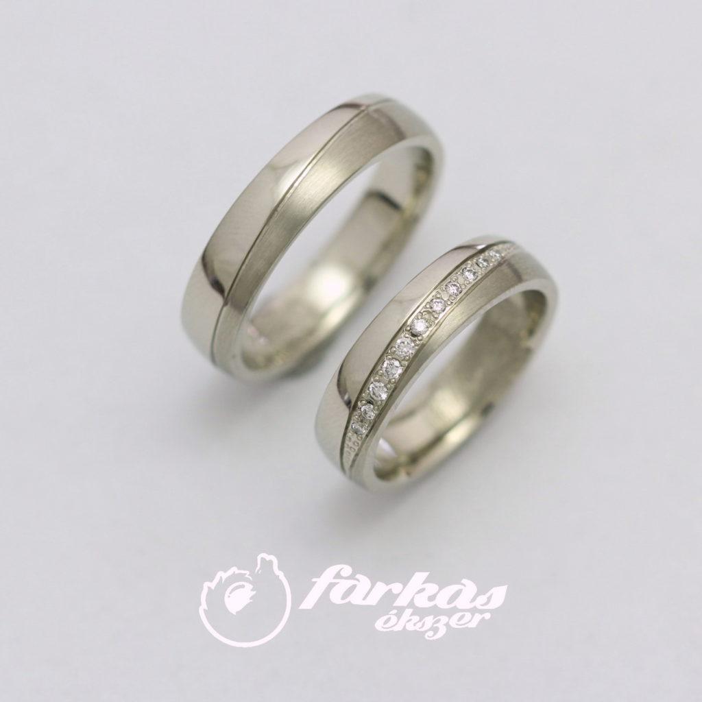 Fehérarany karikagyűrű gyémántokkal 092.
