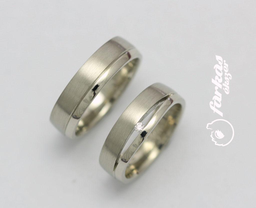 Fehérarany karikagyűrű gyémánttal 093.