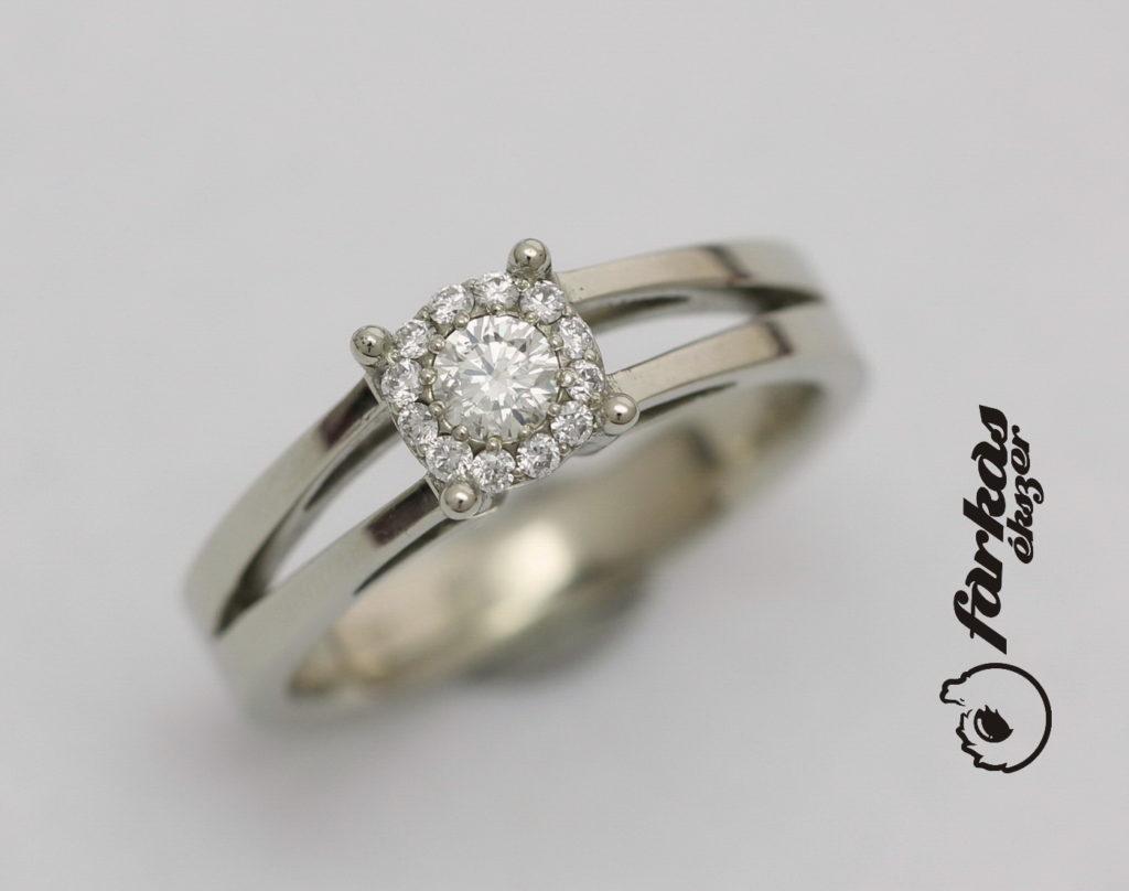 Arany gyűrű gyémántokkal 099.