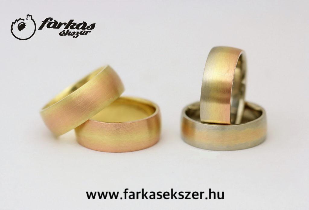 """""""Szivárványos"""" arany karikagyűrűk 107."""