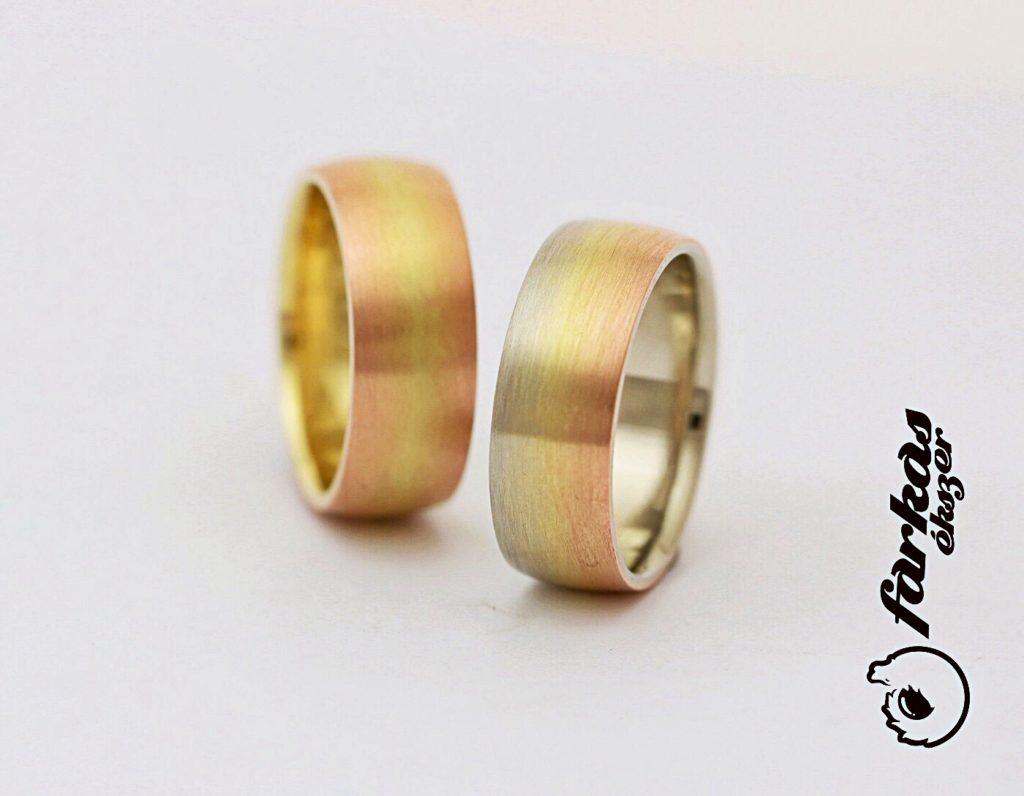"""""""Szivárványos"""" arany karikagyűrűk 109."""