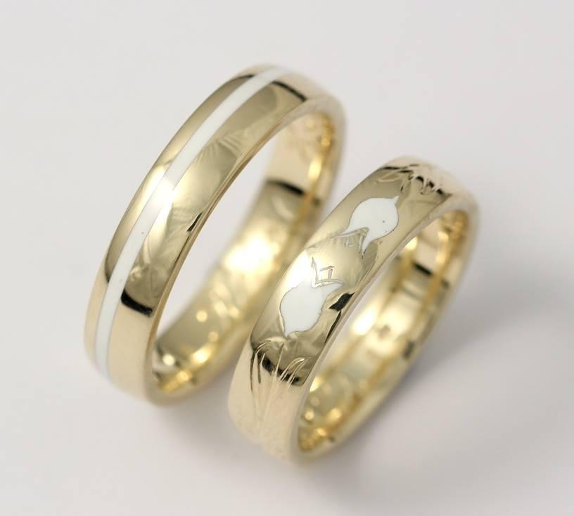 Arany karikagyűrű kerámiával 029.