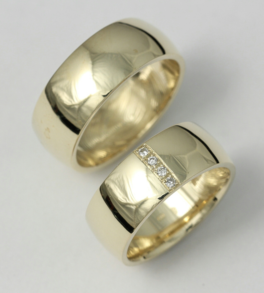 Arany karikagyűrű gyémántokkal 051.