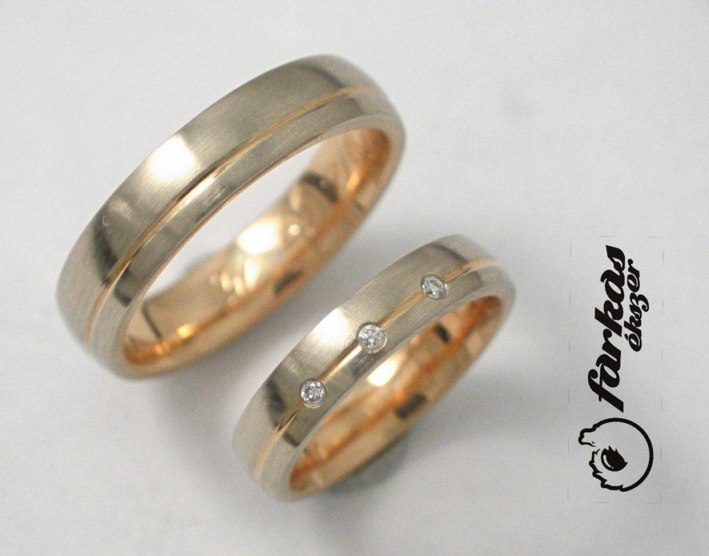 Arany karikagyűrű gyémántokkal 098.