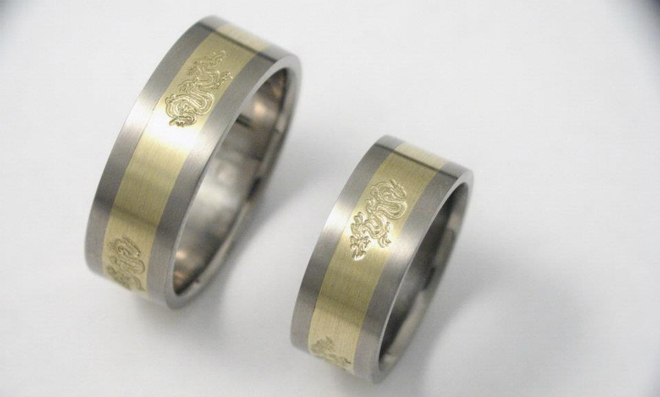Arany-titán karikagyűrű 040.