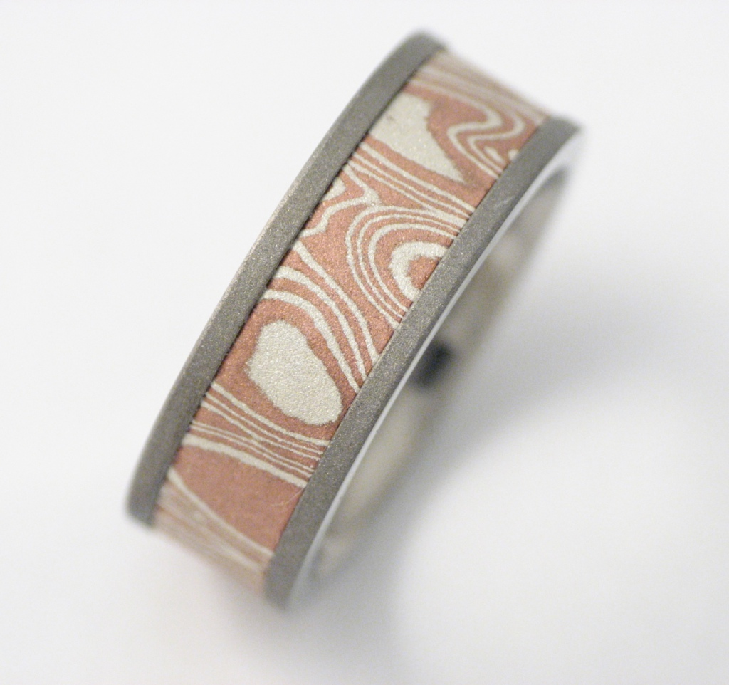 Titán gyűrű, ezüst-réz mokume technikával 107.