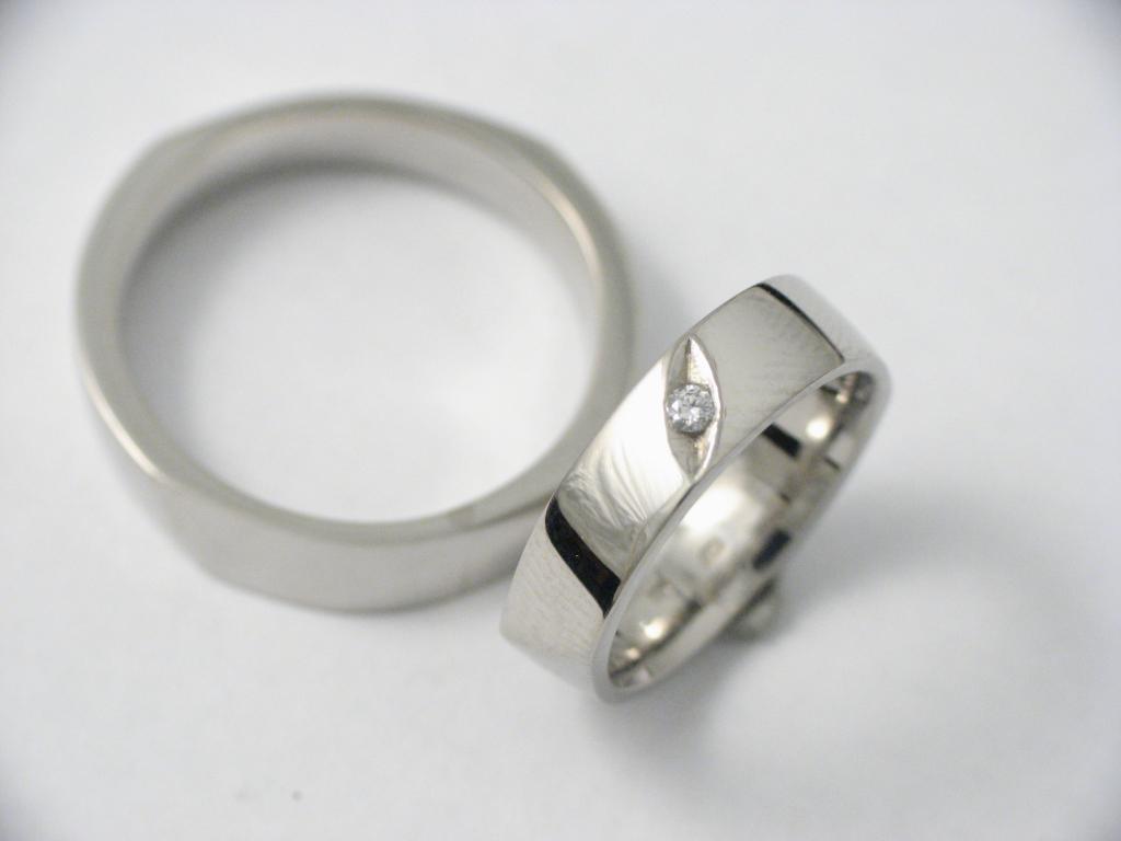 Palládium karikagyűrű gyémánttal 008.