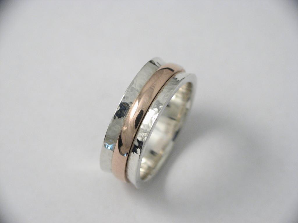 ezüst és vörösarany gyűrű 006.