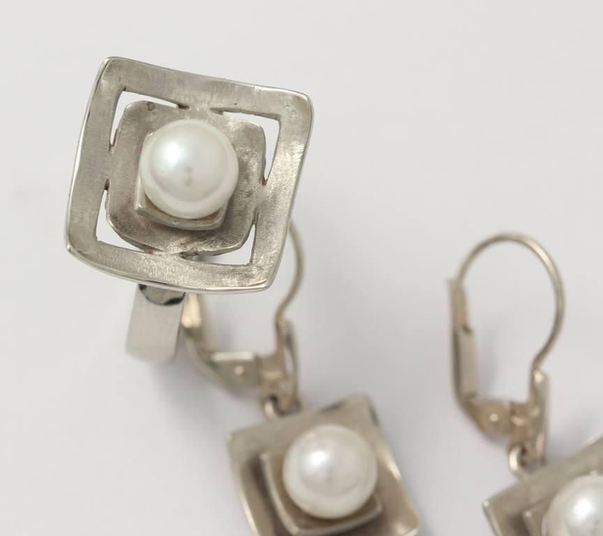 Ezüst gyűrű gyönggyel 013.