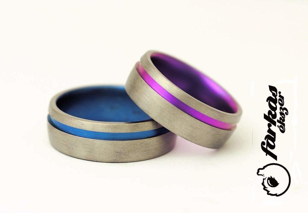 Színesre oxidált titán karikagyűrűk 208.