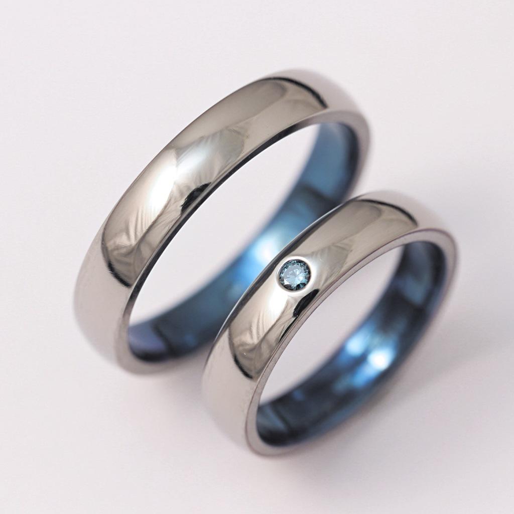Titán karikagyűrű kék gyémánttal 141.