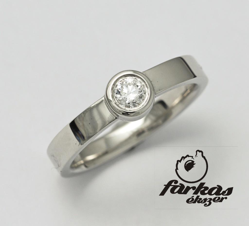 Palládium jegygyűrű gyémánttal 037.
