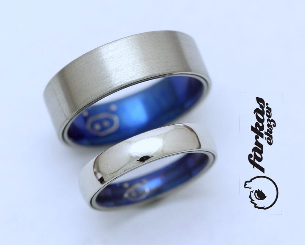 Palládium karikagyűrűk (belül titán oxidálva) 039.