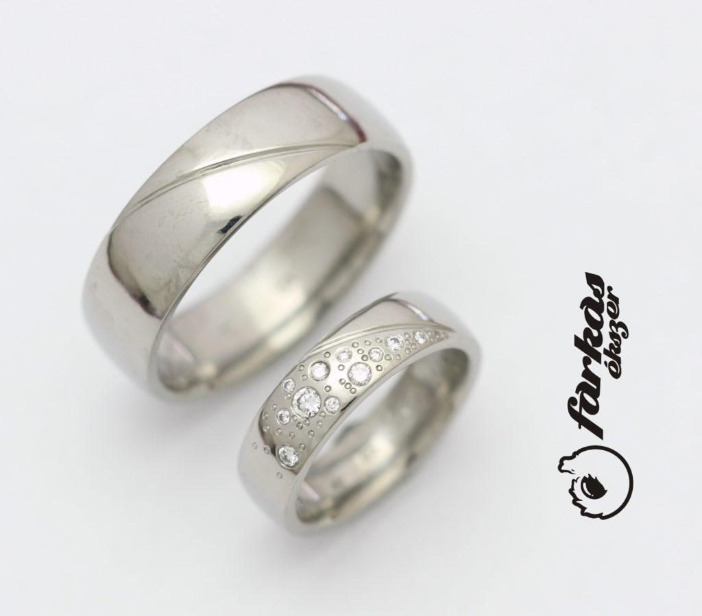 Titán karikagyűrű gyémántokkal 212.