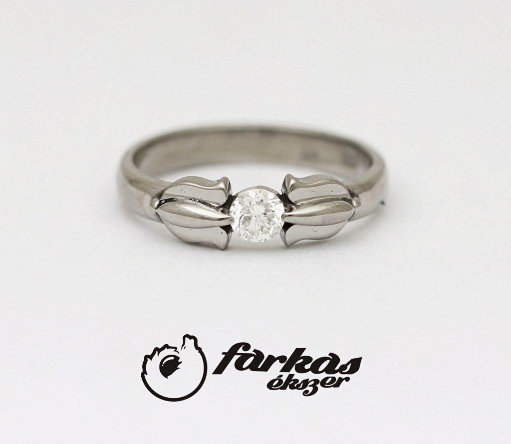 Palládium gyűrű gyémánttal 042.