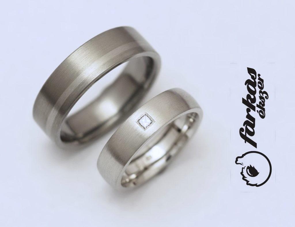 Palládium és titán-palládium karikagyűrűk, gyémánttal 040.