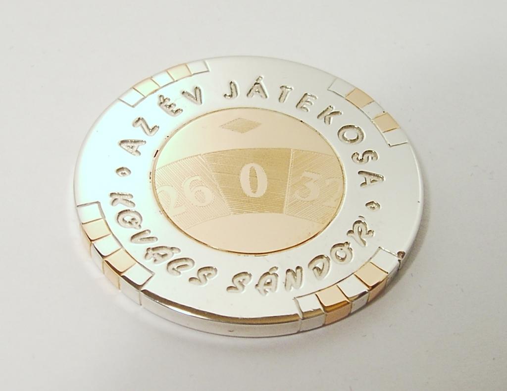 Ezüst-arany emlékérem 035.
