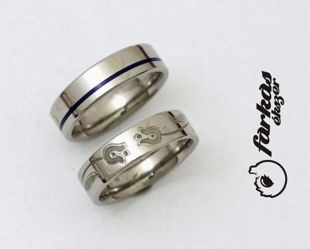 Titán karikagyűrűk kerámiával 255.