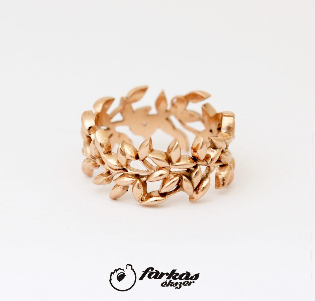 Vörös arany leveles gyűrű 118.
