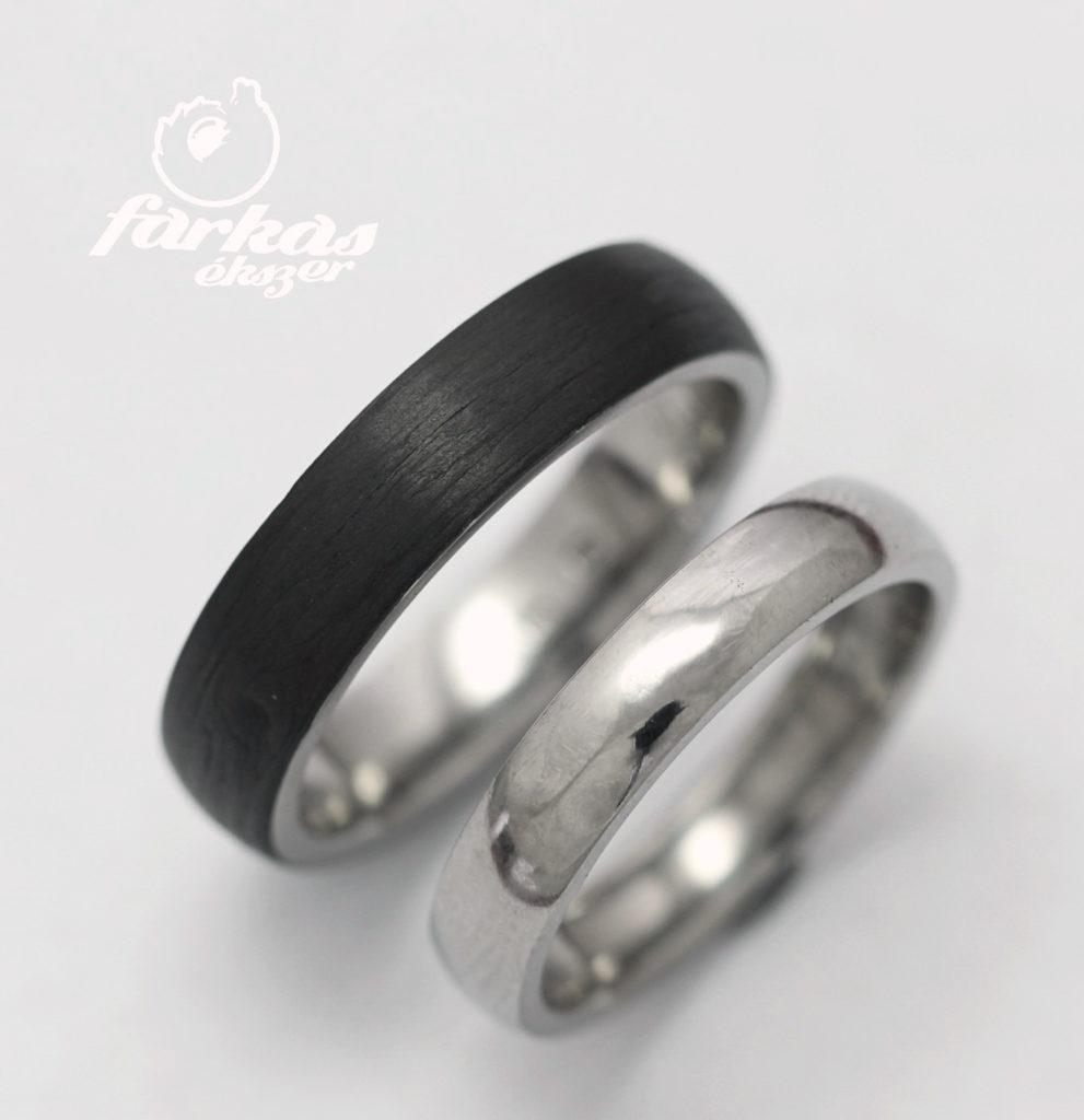 Karbon és titán karikagyűrű 183.