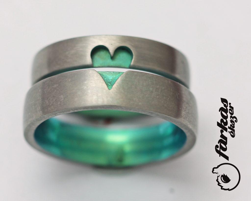 Színesre oxidált titán karikagyűrű 178.