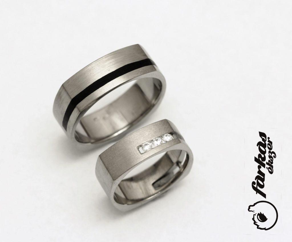 Titán-kerámia karikagyűrűk gyémántokkal 261.