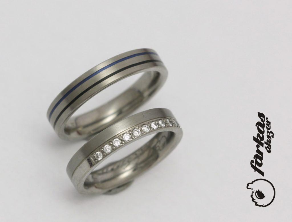 Titán-kerámia karikagyűrűk gyémántokkal 262.
