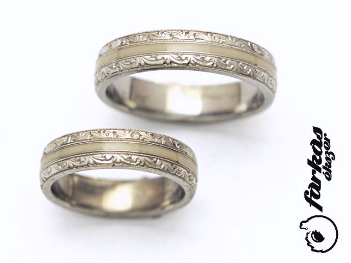 Vésett, kerámiázott titán karikagyűrűk 265.