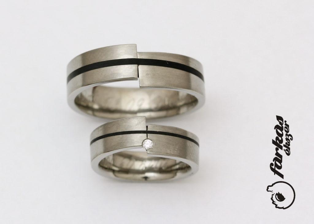 Titán-kerámia karikagyűrűk gyémánttal 275.