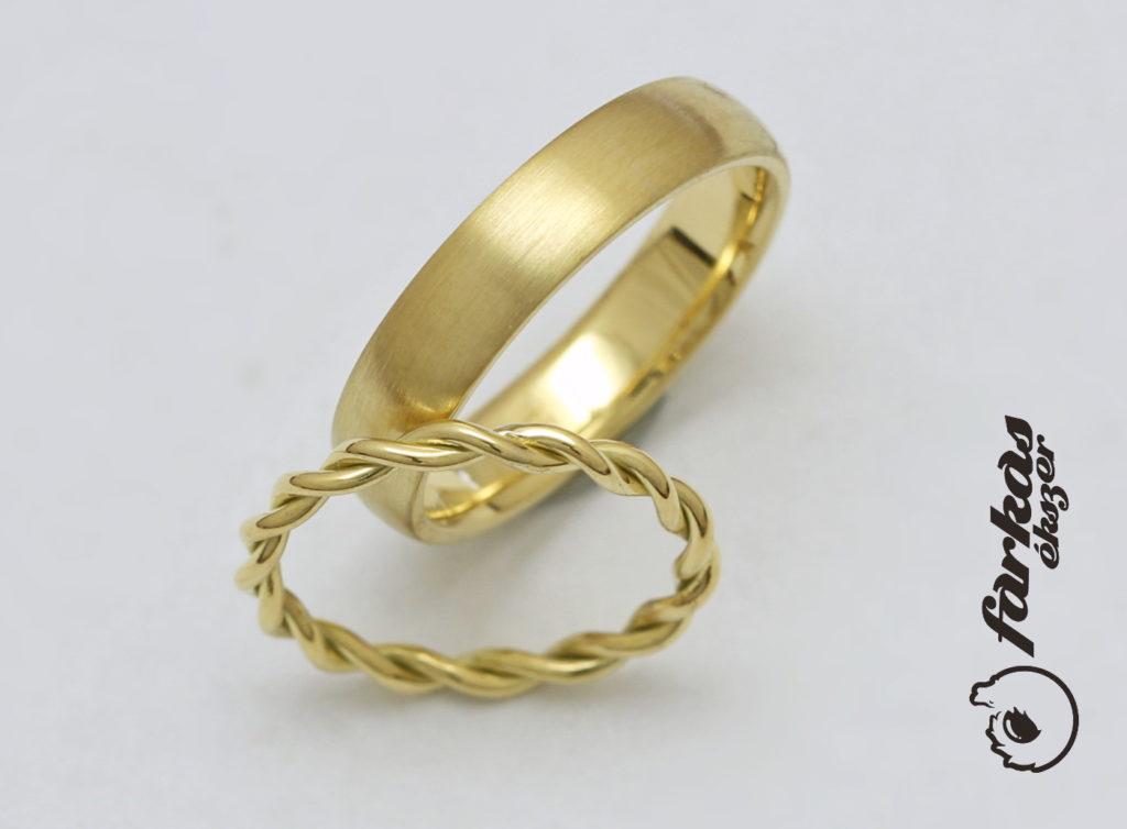 sárga arany karikagyűrűk 112.