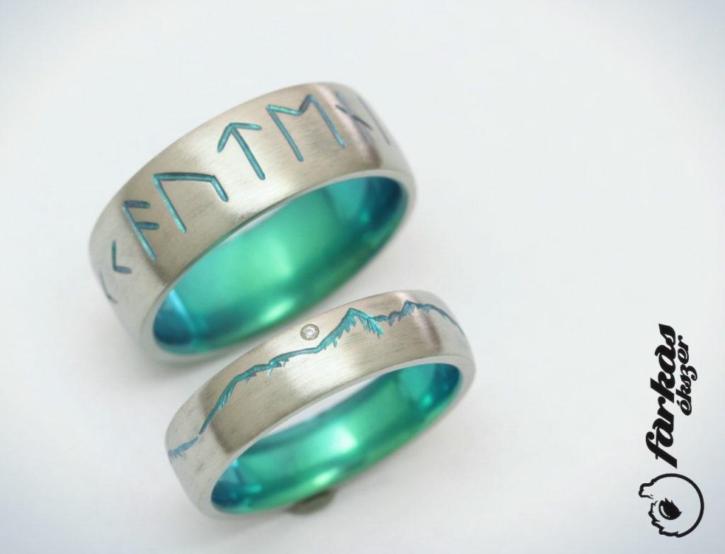 Vésett, oxidált titán karikagyűrűk 267.