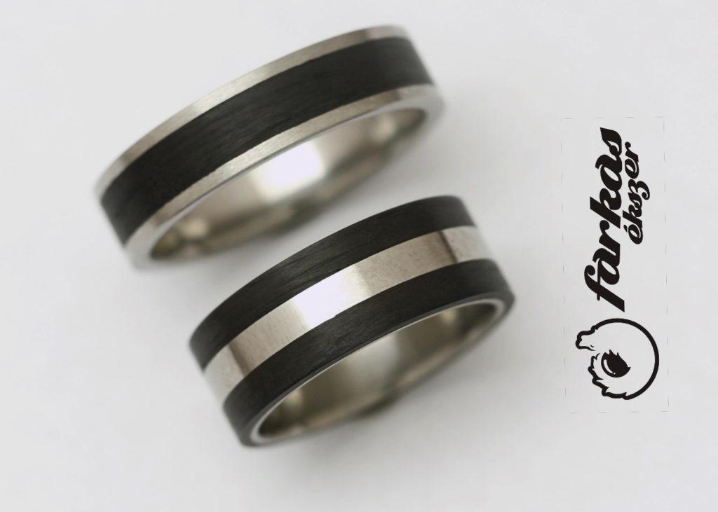 Fekete karbon-titán karikagyűrűk 017.