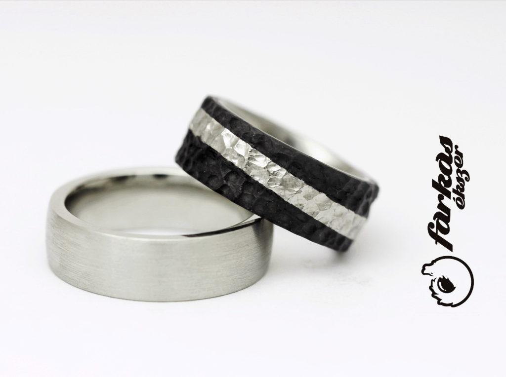 Fekete karbon-titán karikagyűrűk 013.