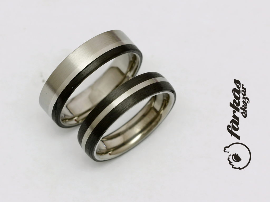 Fekete karbon-titán-palládium karikagyűrűk 005.