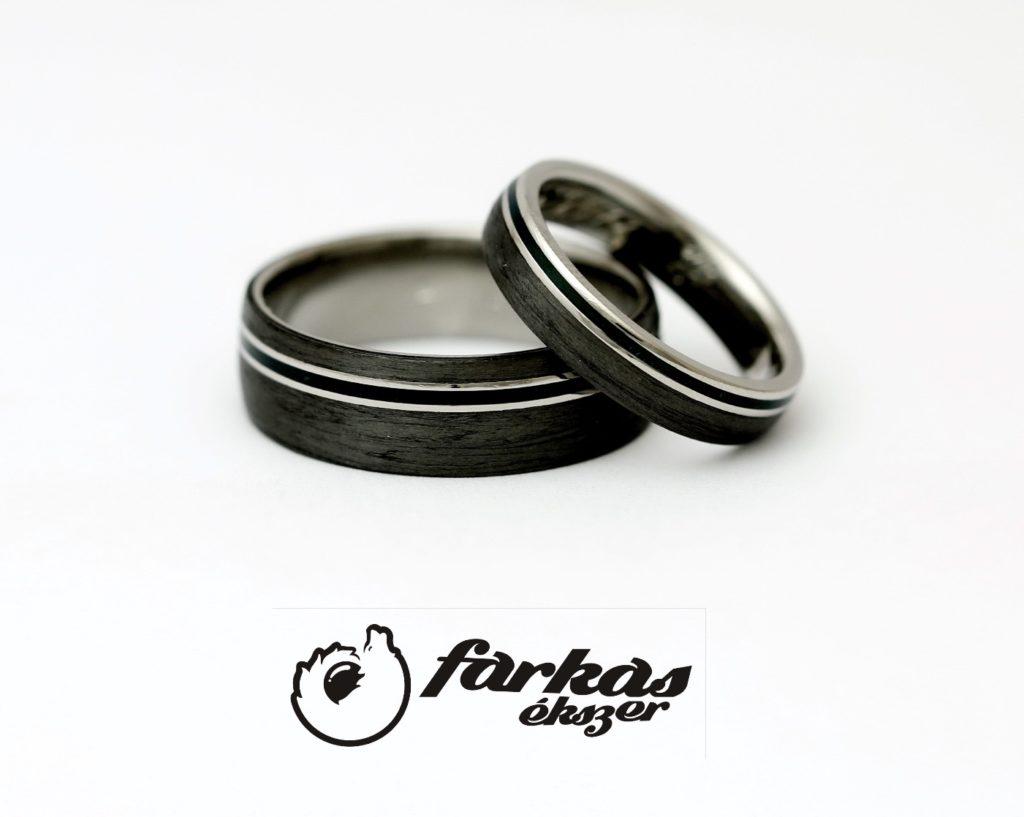 Fekete karbon-titán-fekete kerámia karikagyűrűk 004.