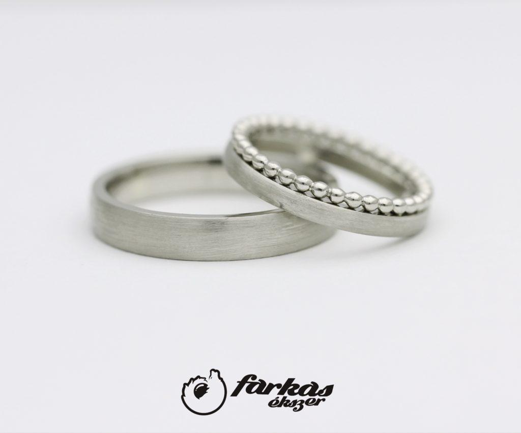 Fehér arany karikagyűrűk A142.