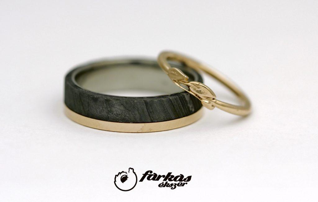 Arany és damaszkuszi acél karikagyűrűk A147.